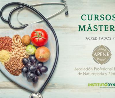 Instituto DYN ofrece másteres avalados por la Asociación Profesional Española de Naturopatía y Bioterapia (A.P.E.N.B.)